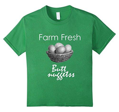 [Kids Farmer Boy Tshirt Fresh Farm Eggs Funny Gift Quote T-Shirt 6 Grass] (Chicken Nugget Costume)