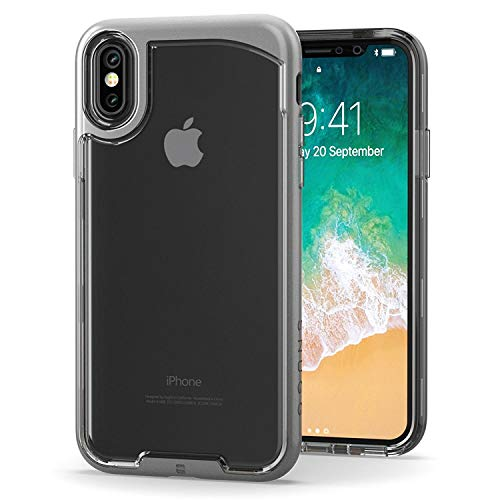 (Snugg iPhone XS (2018) / iPhone X (2017) Case, [Vision Series ] Apple iPhone XS/iPhone X Case Clear [ Gold ] Ultra Thin Lightweight Protective Bumper Cover for iPhone XS/iPhone X)