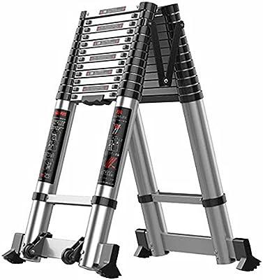 LJSJT Escalera Telescópica Jardin portatil Escalera Profesional de extensión con polea Capacidad de Carga 330 lbs. 2.7 + 2.7m: Amazon.es: Hogar