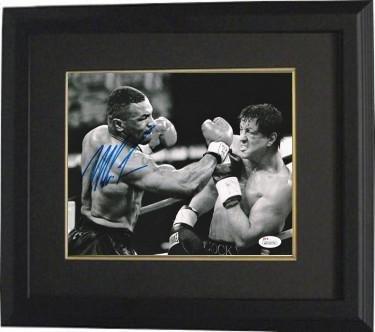 Signed Mike Tyson Photograph - 8X10 Custom Framing Hologram Rocky Heavyweight Champion) - JSA Certified