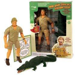 Steve Irwin Talking Crocodile Rescue Action Figure