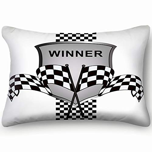 Hpink Decorative Pillow Covers Winners Racing Illustrations Clip Art Race Sports Recreation Cushion Case 20 x 30 Inch 51 x 76 cm