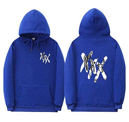 Chaud Capuche A Sweatshirt Femme Top Bleu Longue 1 De Hop Homme Sport Imprimé Pull Casual Fan Manche Hip Sweat Hoodie Ecriture Xxxtentacion Velours Doublure Yuandiann fZTqxT