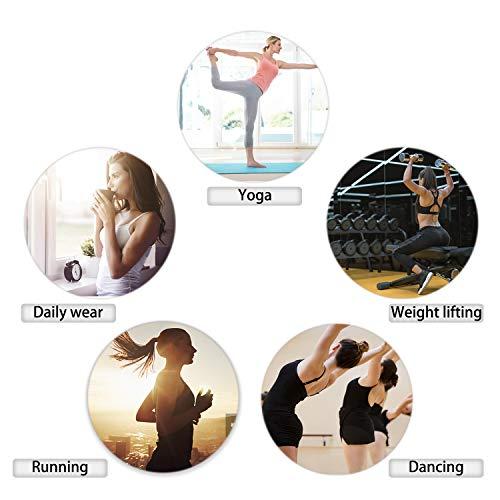 bcc17995c3d ZOUYUE Sports Bra Wireless Padded Bra for Gym Workout Activewear Yoga  Running Bra(Black