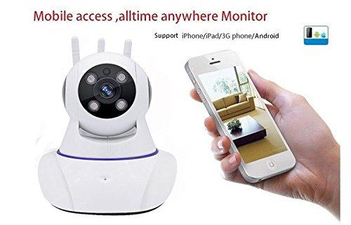 Joney Wireless HD IP Camera with 3pcs wireless antenna,Support 2 Way Audio, Day/Night Vision Webcam (1.3MP) by Joney (Image #5)