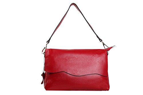 Yy.f Bolsas Bolsas De Cuero Nuevos Bolsos De Cuero Bolso Simple Mensajero Moda De Las Señoras Bolso De Hombro Multicolor Red
