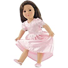 """18 Inch Doll Clothes Pretty Nightgown - Fits American Girl Dolls Includes 18"""" Slippers"""