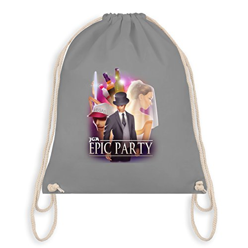 Shirtracer JGA Junggesellenabschied - JGA Epic Party Filmposter - Turnbeutel I Gym Bag Hellgrau YG8pkg4k