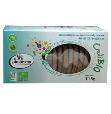 Celibio galletas int. avena con miel y manzana, sin glute y ecológicas, 115g
