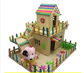 Amazoncom Ice Cream Stick Diy Handmade Small House