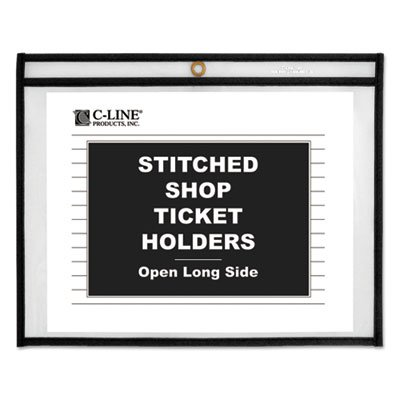 Shop Ticket Holders, Stitched, Both Sides Clear, 75