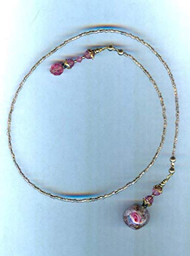 Beaded Lampwork Swarovski Bookmark - 6