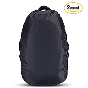 AGPTEK 2 Pack Nylon Waterproof Backpack Rain Cover with 1 Storage Bag for Hiking/Camping/Traveling/Outdoor Activities,Size(XS:10 17L S:18 25L M:26 40L L:41 55L)