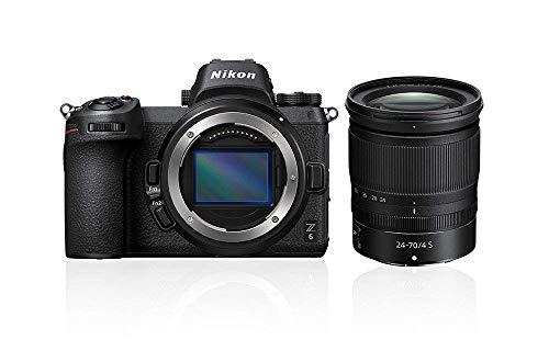 Nikon Z6 24MP (ISO 100-51200, Z-houder, 12 fps, optische VRstabilisatie, sportmodus) – Kit met 24-70MM F4 SD2…