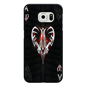 Samsung Galaxy S6 Edge Phone Case, Cool Refined Heart Playing Card Collections Phone Case Cover Cards Tattoo Unique