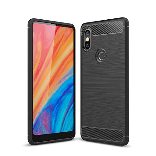 Xiaomi Mi Mix 2s Case, AVIDET Shock-Absorption Flexible Soft Gel TPU Silicone Case Cover for Xiaomi Mi Mix 2s (Black)