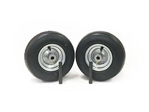 MowerPartsGroup (2) Hustler Pneumatic Wheel Assemblies 11x4.00-5 Fits Raptor and Sport 605133