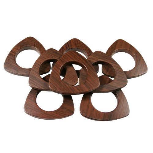 "Triangle #10 Plastic Grommets, 1 3/8"", 8 Sets, Dark Wood"