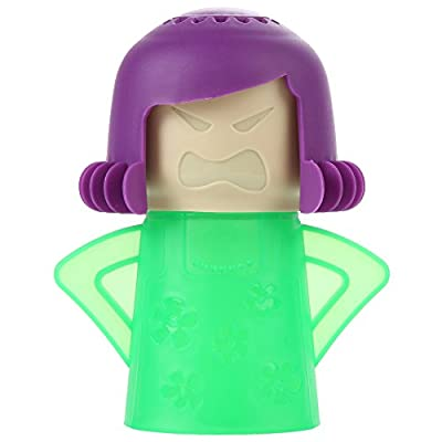 Home-X Steam'n Mama Microwave Cleaner. Green Body and Purple Hair