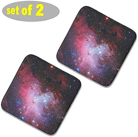 ganten - Cojín de Espuma viscoelástica para Silla de Oficina, tamaño 16 x 16 Pulgadas (2 Unidades), diseño de águila Nebulosa Messier