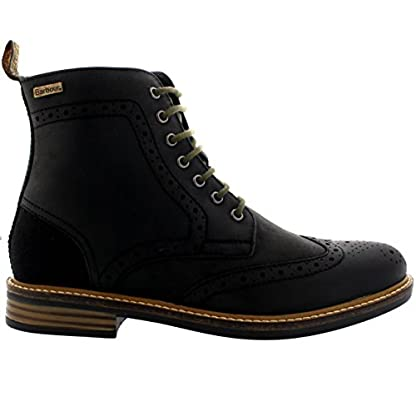 Mens Barbour Belsay Smart Leather Work Office Lace Up Brogue Ankle Boots 4