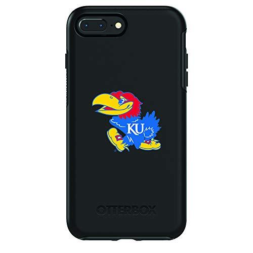Fan Brander NCAA Black Phone case, Compatible with Apple iPhone 8 and Apple iPhone 7 and with OtterBox Symmetry Series (Kansas Jayhawks)