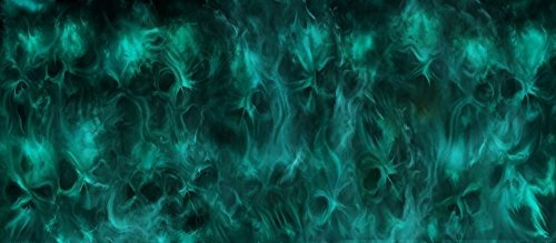 Trippy Skull / Aquarium Background Fish Tank Background (Various Sizes) (21x48) by BannersNStands