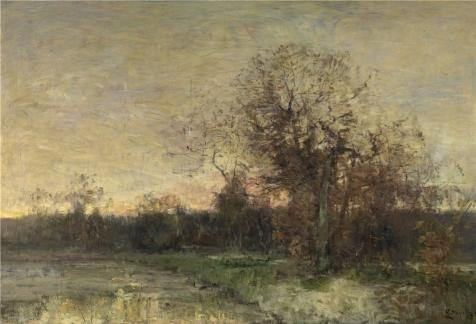 Oil Painting 'Guillaume Vogels - The Pond, 19th Century' 30 x 44 inch / 76 x 112 cm , on High Definition HD canvas prints is for Gifts And Home Office, Home Theater And Powder Room Decoration, (Restoration Theatre Costumes)