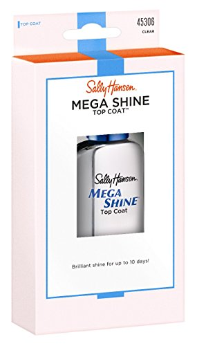 Sally Hansen Mega Shine Top Coat Clear 0.45 Ounce (13.3ml) (2 Pack) by Sally Hansen