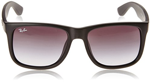 Ray-Ban Men's RB4165F Justin Sunglasses Rubber Black / Gradient Grey - Ray Ban Justin Classic