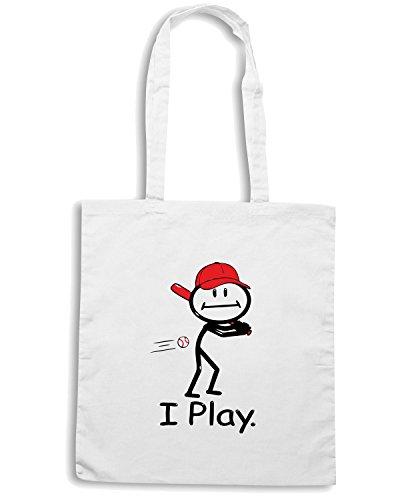 T-Shirtshock - Bolsa para la compra OLDENG00029 busybodies baseball Blanco