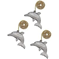 Runwireless Dolphin Ceiling Fan Pull with Beaded Chain - 3 Pack - FA121