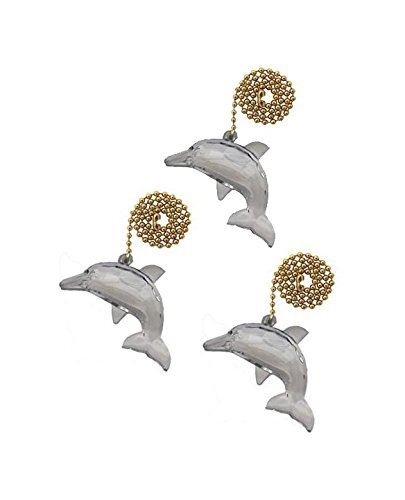 Ceiling Fan Dolphin Pull - Runwireless Dolphin Ceiling Fan Pull with Beaded Chain - 3 Pack - FA121