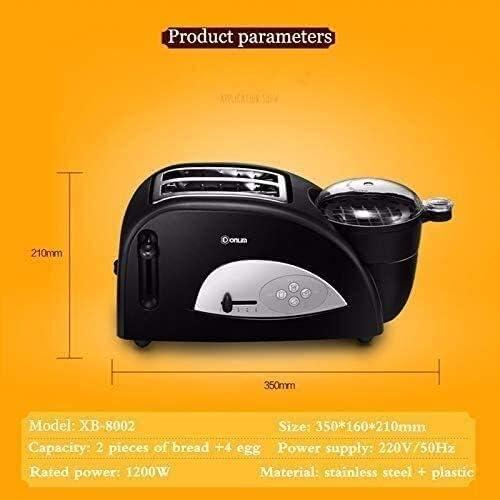 Zjcpow Multi-Fonctionnel Grille-Pain avec 2 tranches Pan Machine à Pain Grille-Pain Automatique Rapide Chauffage Grille-Pain de ménage Petit-déjeuner Maker xuwuhz