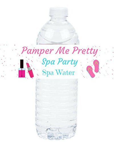 (Spa Party Supplies for Girls Sleepover Party Waterproof Labels for Bottles, 15 Items)
