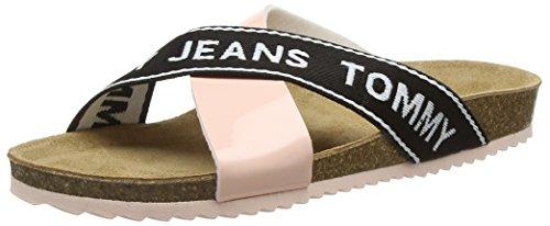 Rose Flat Sandales Cork 646 Silber Femme Cloud Rose Tommy Plateforme Jeans 7qH4W4
