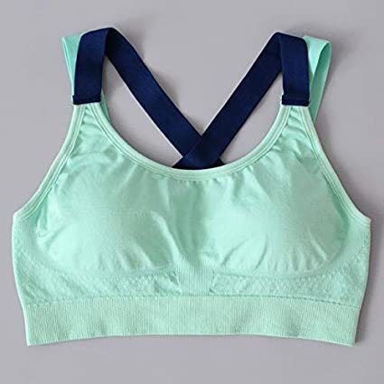 RCD Online Womens Running Fitness Bra - Green, L