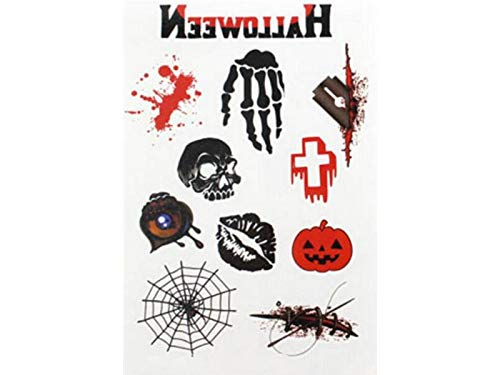 Yyanliii Divertente Creativo Impermeabile Horror Tattoo Sticker Spaventoso Corpo Adesivo Per Halloween Party Prop E Cosplay (Colorato)