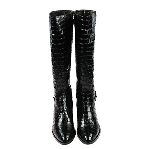 Perlato 8999 croco noir Schwarz