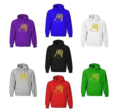 J Cole Crown Adult Hoodies (Black, Blue, Red, White, Green, Gray, Purple)