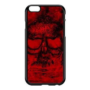 Red Skull Blood Black Hard Plastic Case for iPhone 6 Plus by Fernando Garza + FREE Crystal Clear Screen Protector