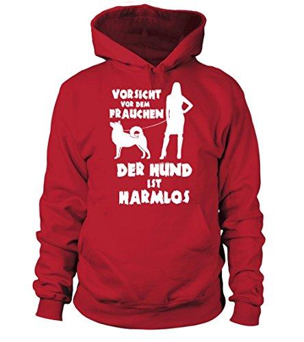 IchLiebeHunde.com - Sudadera con capucha - para mujer rojo XXL