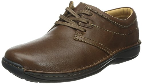 Clarks Stroll Out 203466607 Herren Halbschuhe Braun/Ebony Leather