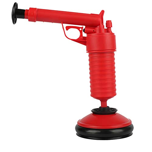 Pressure Pump Pipeline Unclogs Cleaner Kitchen Toilet Hand Powered Plunger Set Home Supplies (red)
