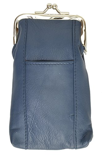 Marshal Wallet Cigratte Case Holder With Clasp Closure (Blue)