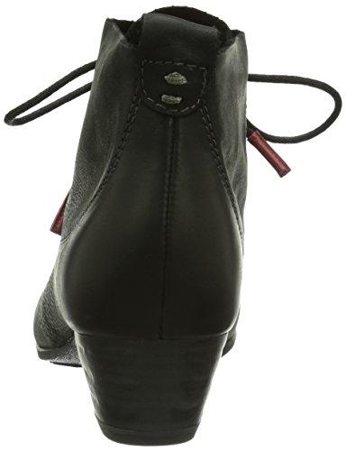 Tamaris 25115 - botas de caño bajo de cuero mujer Black 906