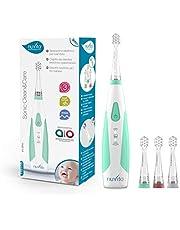 Nuvita 1151   Sonic Clean&Care Elektrische Tandenborstel Baby Kinderen   Sonische Technologie 3 Snelheden   3 Opzetborstels Meegeleverd (3-36 Maanden)   Alarm   Verkrijgbaar (3, 4 en 5 Jaar)   Merk EU
