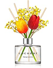 Cocod'or Preserved Real Flower Reed Diffuser, Rose Perfume Reed Diffuser, Reed Diffuser Set, Oil Diffuser & Reed Diffuser Sticks, Home Decor & Office Decor, Fragrance And Gifts…