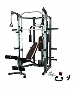 Marcy Smith Machine with Bench and Weight Bar – Home Gym Equipment SM-4008