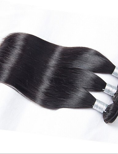14 natural Vierges Cheveux 30 Malaisien Black 8 Droite Humaine 12 Raides 3pcs Malaisienne Jff '' 10 wn6qHAxn
